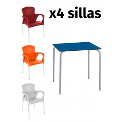 Pack mesa SITA + 4 sillas GRACE
