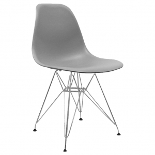 silla nórdica EAMES metálica color gris para negocios hosteleros