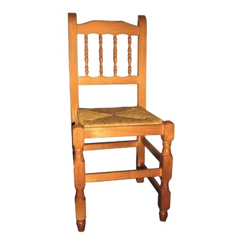 silla de madera BOLILLOS ref. 120