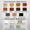 Mesa de Madera GINETA Ref. 848 - Colores para pintar la mesa de madera