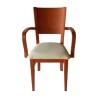 sillón de madera CIEZA ref. 625 - Asiento tapizado con polipiel