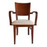 sillón de madera CIEZA ref. 625 - Asiento tapizado con tela