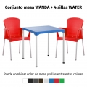 Oferta 1 mesa WANDA y 4 sillas WATER