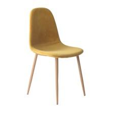 silla nórdica ÉPOCA terciopelo color mostaza