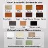 taburete de madera TABERNAS ref. 531 - Colores para pintar el taburete