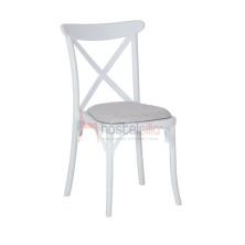 silla REINA de plástico con asiento tapizado