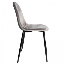 alt= silla nórdica SANSA BLACK terciopelo